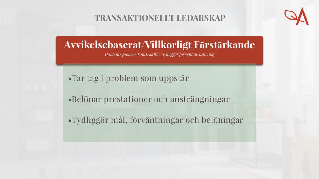Exempel Transaktionellt ledarskap modell ledarstil