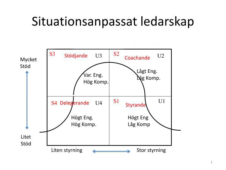 Situationsanpassat ledarskap - ledarskapsmodell
