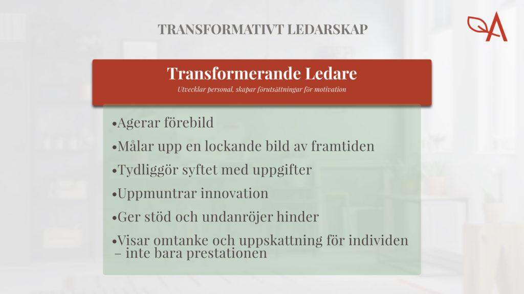 Exempel transformativt ledarskap